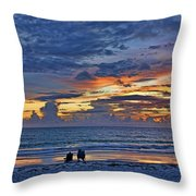 On A Quiet Beach With You Throw Pillow