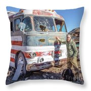 On Location Photographer Edward Fielding In Jerome Arizona Throw Pillow