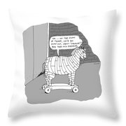On The Count Of Three Throw Pillow