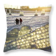 On The Ice Throw Pillow