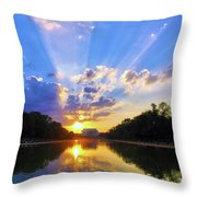 On The Lord's Side Throw Pillow