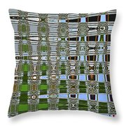 On The River At Aberdeen Throw Pillow