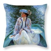 On The River Edge 1910 Throw Pillow