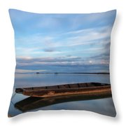 On The Shore Of The Lake Throw Pillow
