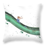 On The Slide Throw Pillow