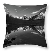 On The Trail Bw Throw Pillow