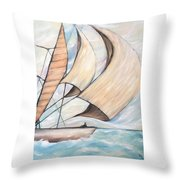On The Wings Of A Dove Throw Pillow