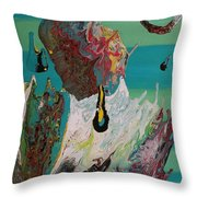 Once Upon A Planet Throw Pillow