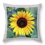 One Bright Sunflower Throw Pillow