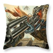 One Bullet, One Kill Throw Pillow