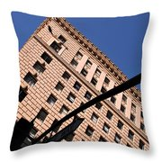 One Way Golden Architecture  Throw Pillow