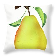 One Yellow Juicy Pear Throw Pillow