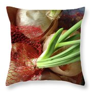 Onions 3 Throw Pillow