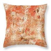 Orange Day Today Throw Pillow