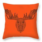 Orange Moose Throw Pillow
