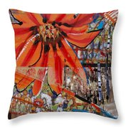 Orange Released Throw Pillow