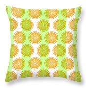 Orange Slice Pattern 2 - Tropical Pattern - Tropical Print - Lemon - Orange - Fruit - Tangerine Throw Pillow