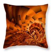 Orange Weave Throw Pillow