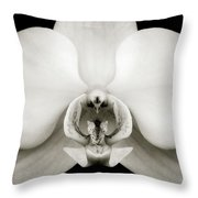 Orchid Throw Pillow by Dave Bowman