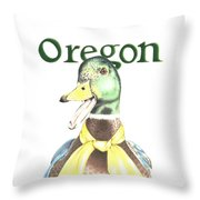Oregon Duck Throw Pillow