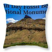Oregon - John Day Fossil Beds National Monument Sheep Rock 2 Throw Pillow