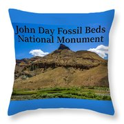 Oregon - John Day Fossil Beds National Monument Sheep Rock 2 Throw Pillow