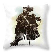 Organ Grinder Throw Pillow by Clint Hansen