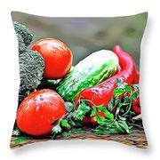 Organic Veg Throw Pillow