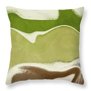Organic Wave 1- Art By Linda Woods Throw Pillow