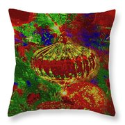 Ornament On A Tree Throw Pillow