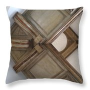 Wood Ornament Throw Pillow
