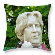 Oscar Wilde Statue One  Throw Pillow