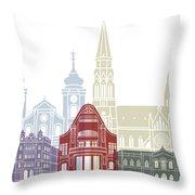Osijek Skyline Poster  Throw Pillow