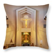 Our Lady Of The Universe Cathedral Throw Pillow