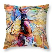 Outback Roo Throw Pillow