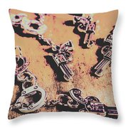 Outlaw Frontiers Throw Pillow