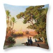 Outskirts Of Cairo Throw Pillow