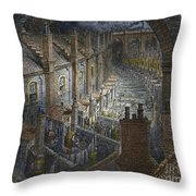 Over London By Rail From London, A Pilgrimage Throw Pillow