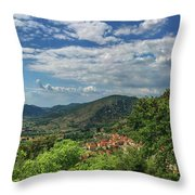 Over Roccassecca  Throw Pillow