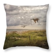 Over The Dunes Throw Pillow