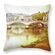 Over The Tiber Throw Pillow