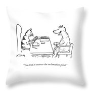 Overuse Of The Exclamation Point Throw Pillow