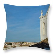Overview Of Tavira City. Portugal Throw Pillow