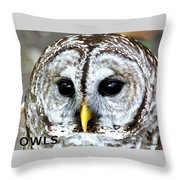 Owls Mascot Throw Pillow
