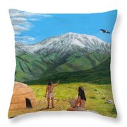 Paauw Snow Throw Pillow by Kevin Daly