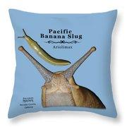 Pacific Banana Slug Throw Pillow