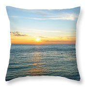 Pacific Ocean Sunset Throw Pillow
