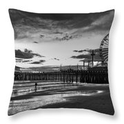 Pacific Park - Black And White Throw Pillow