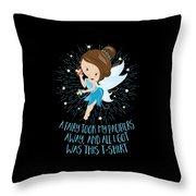 Pacifier Fairy Gift Idea Paci Fairy For Girlsboys Throw Pillow