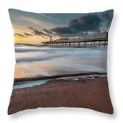 Paignton Pier Throw Pillow